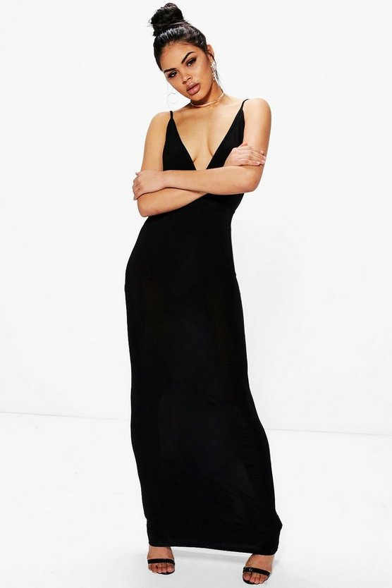 Brea Slinky Wrap Top Open Back Maxi Dress
