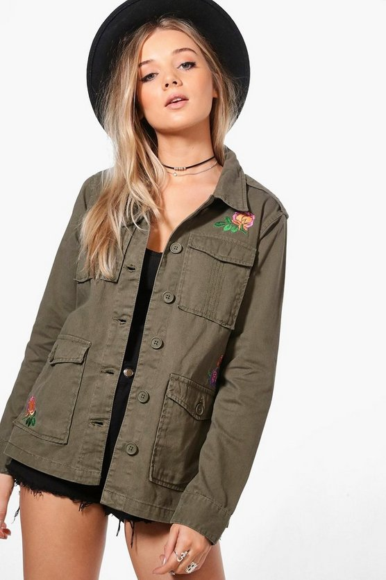 Esme Floral Embroidered Utility Jacket