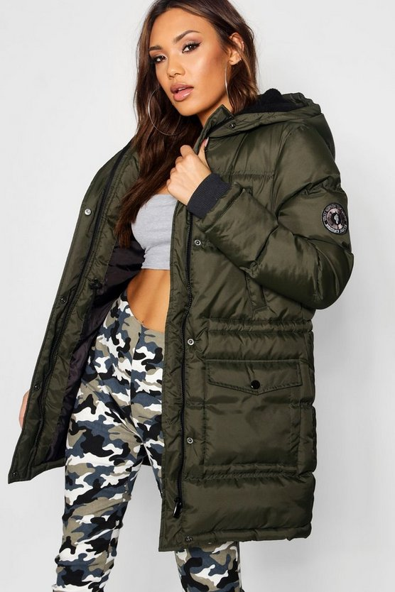 Quilted Sporty Padded Parka