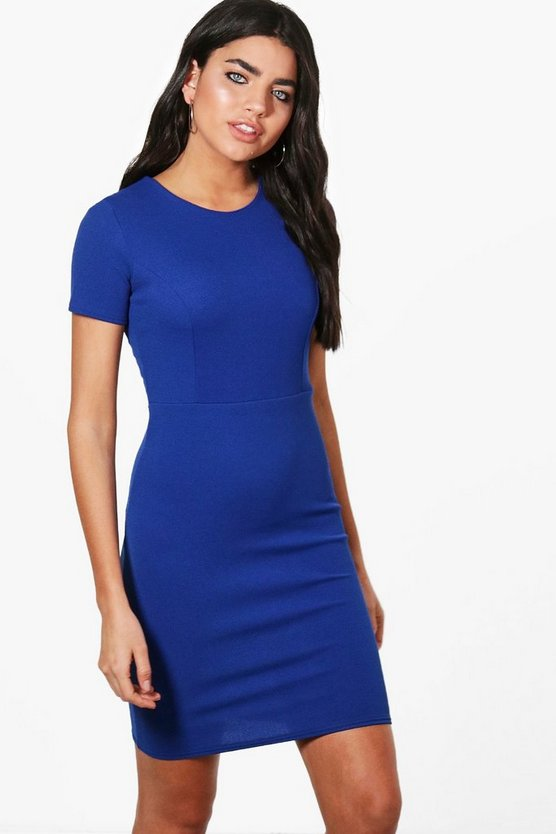 Womens Cobalt Fitted Tailored Dress