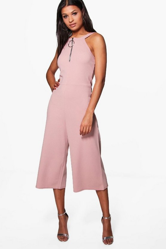 Sally Ring Detail Culotte Jumpsuit