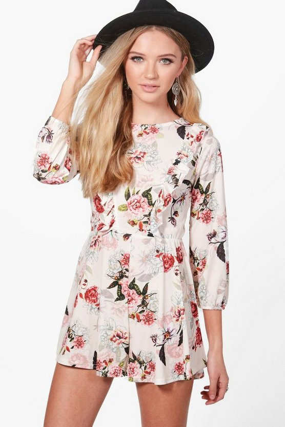 Katie Floral Ruffle Playsuit