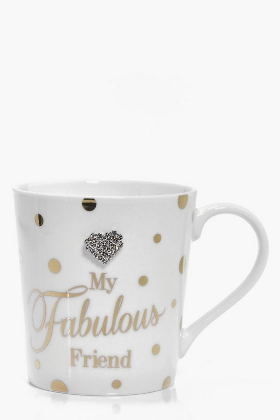 Cream Mad Dots Fabulous Friend Mug