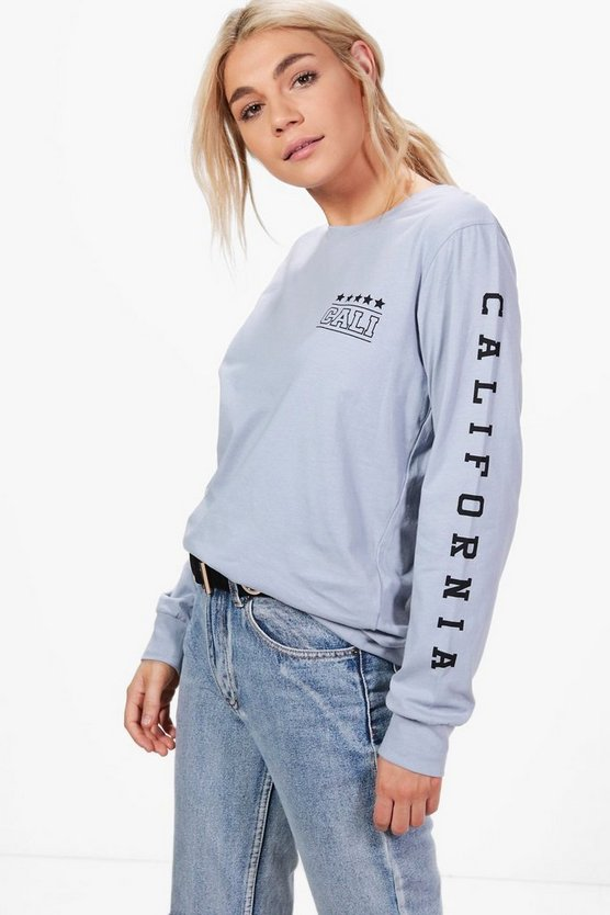 Lizzie Slogan Sleeve Oversized T-Shirt