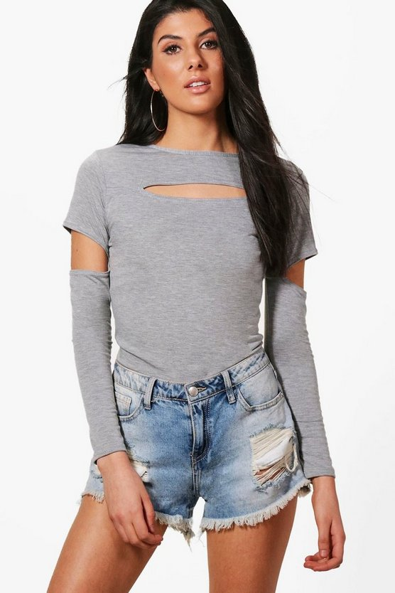 Eleanor Cut Out Detail Long Sleeve Top