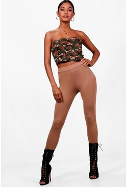 Womens Camel High Waist Leggings