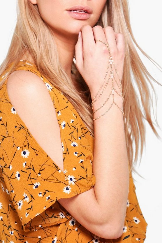 Kiera Delicate Beaded Chain Hand Harness