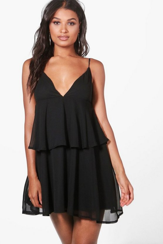 Josie Ruffle Tiered Strappy Skater Sundress