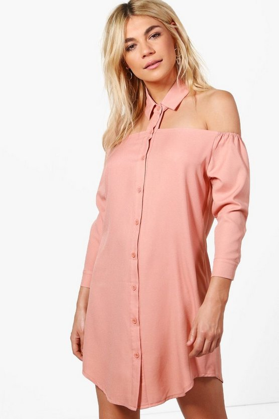Libby Cut Out Collar Shift Dress