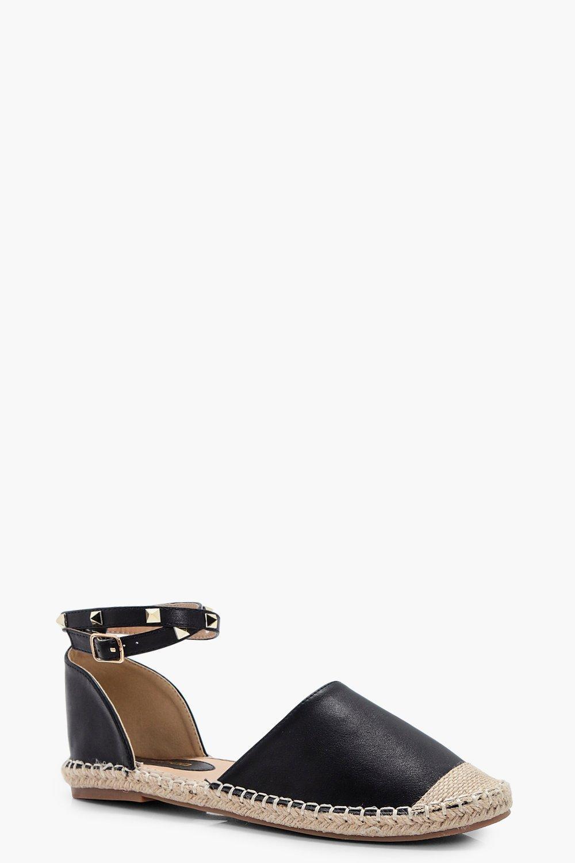 sélectionner pour véritable belles chaussures variété de dessins et de couleurs laura espadrilles cloutées à bride de cheville | Boohoo