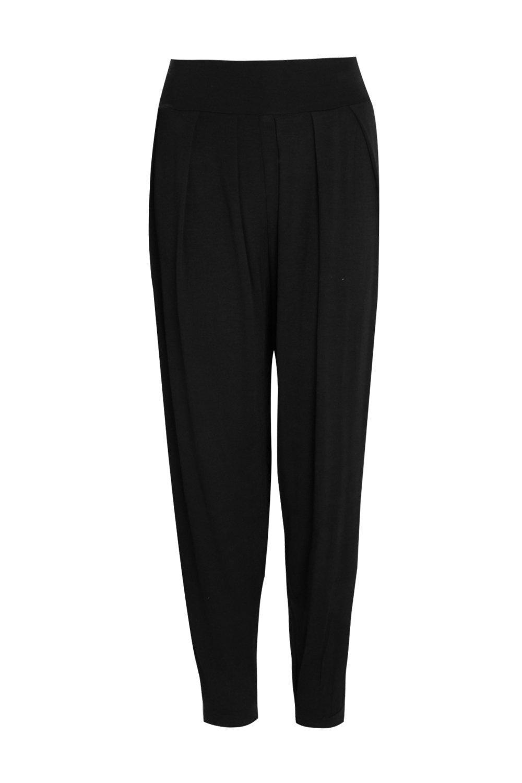 punto de plisados delante por Pantalones negro harén q17BAaS