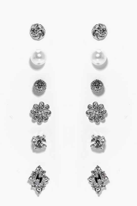 Nina Diamante Stud Earring Set
