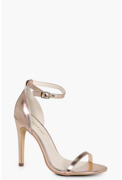 Rose gold Two Part Heels