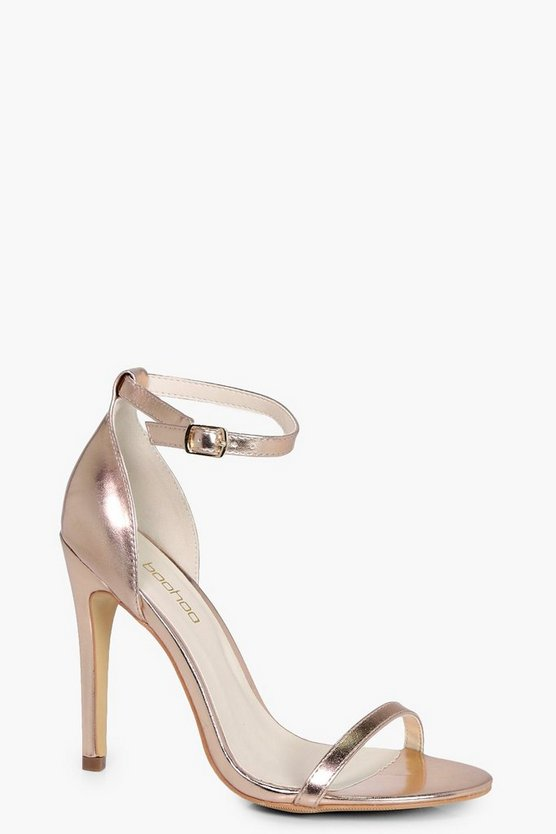 Womens Rose gold Two Part Heels
