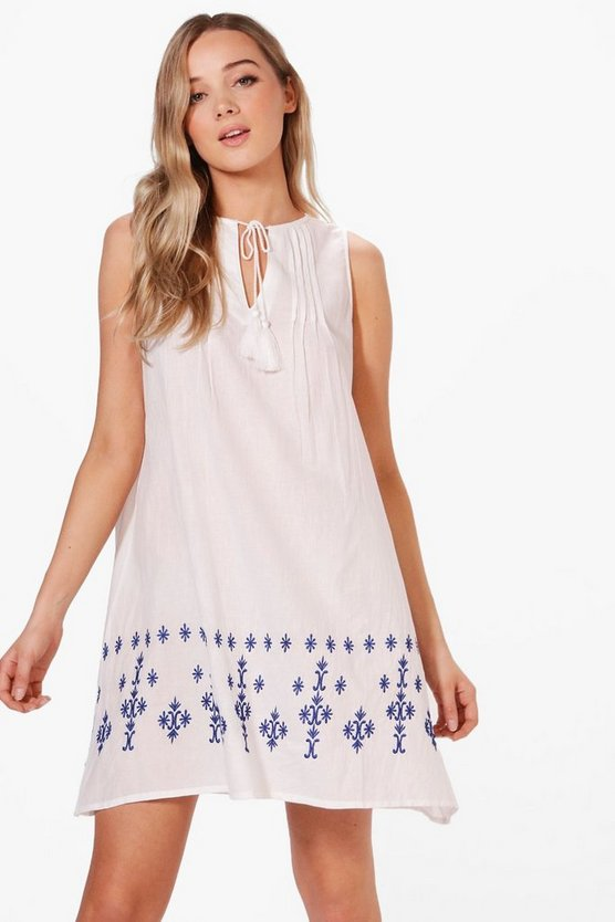 Lola Embroidered Swing Dress