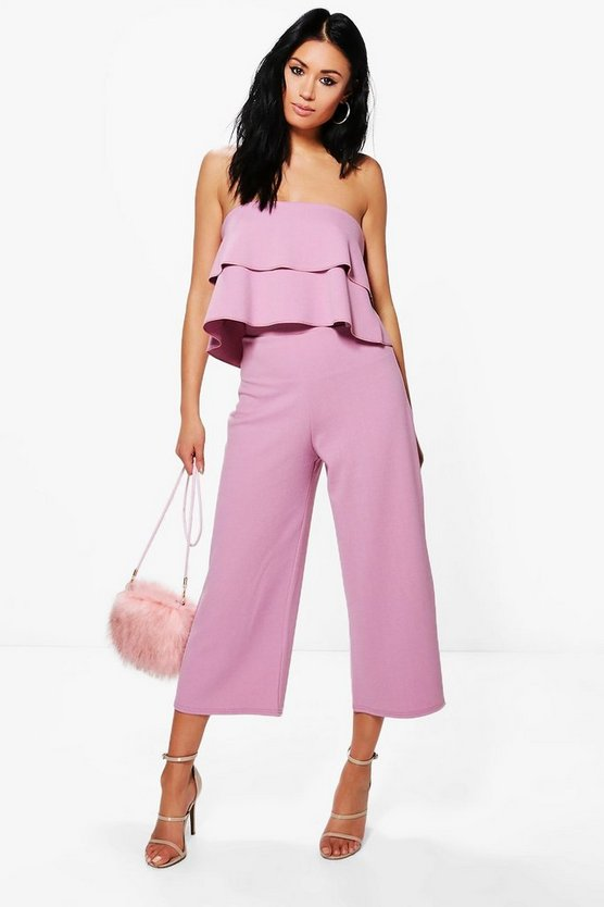 Ensemble assorti top double bandeau et jupe-culotte
