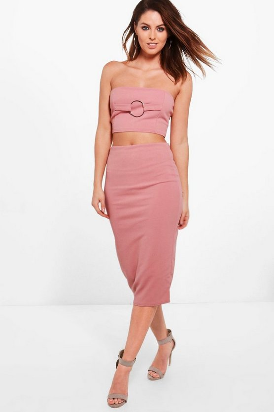 Olivia O Ring Bandeau & Midi Skirt Co-Ord