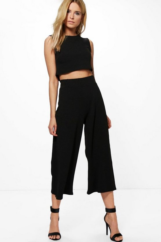Sally Boxy Crop Top & Culotte Co-ord