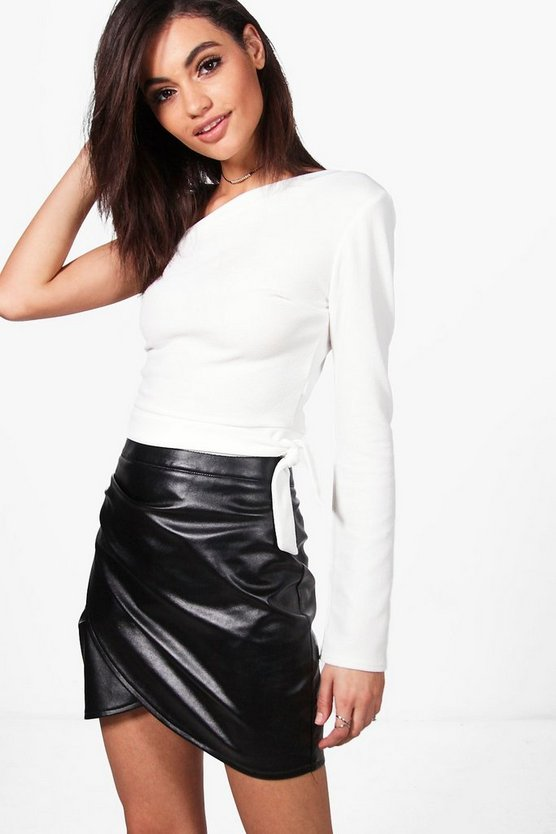 Lila One Shoulder Tie Waist Crop