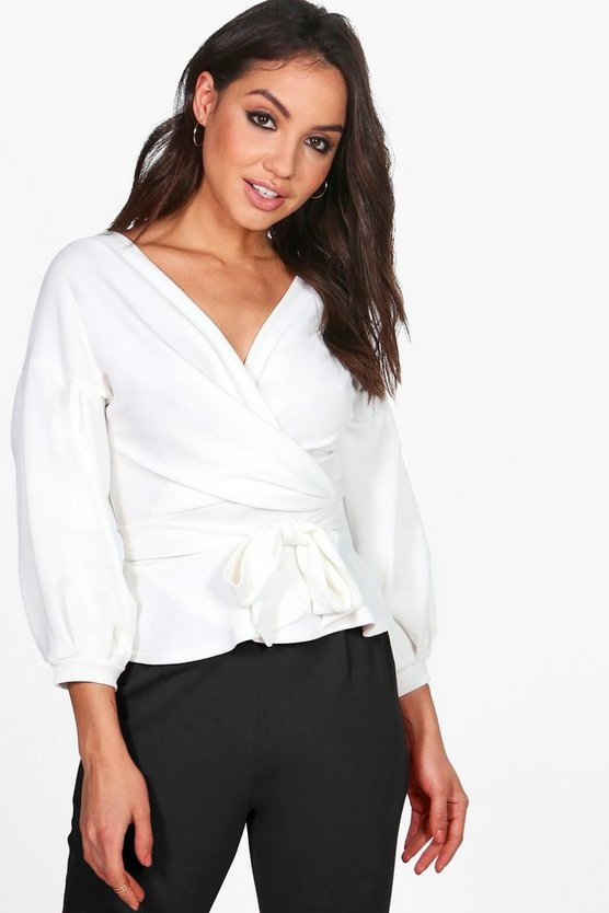 Bell Sleeve Wrapover Top