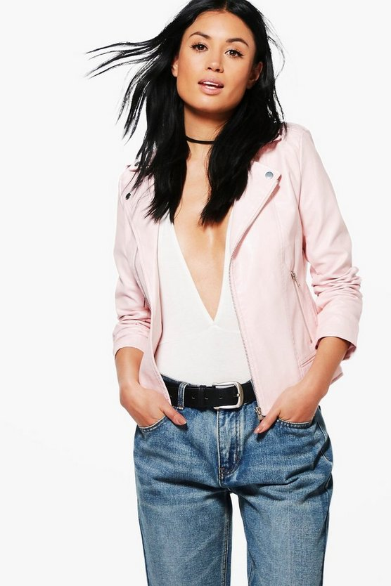 Rosie Faux Leather Biker Jacket