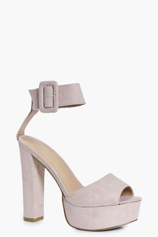 Platform Ankle Strap Heels. Hover to zoom