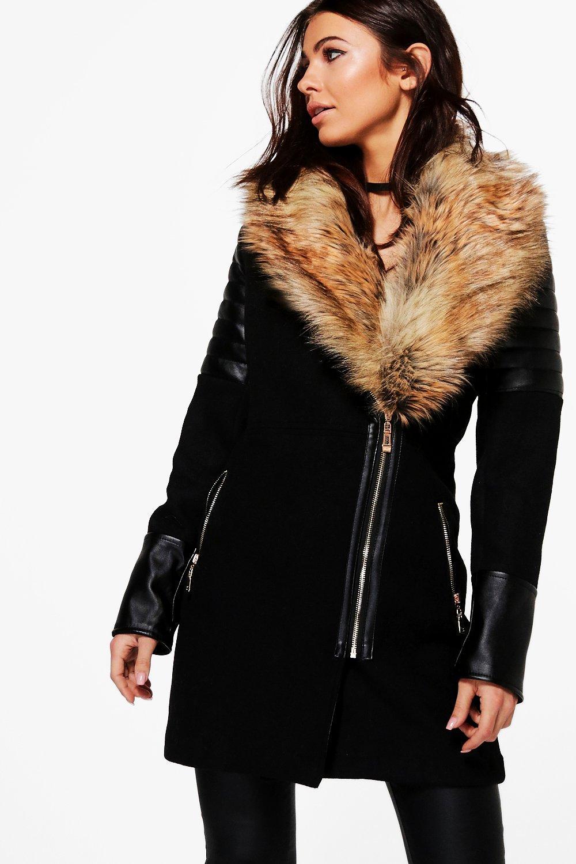 6884718f8eae Lara Faux Fur Collar Coat
