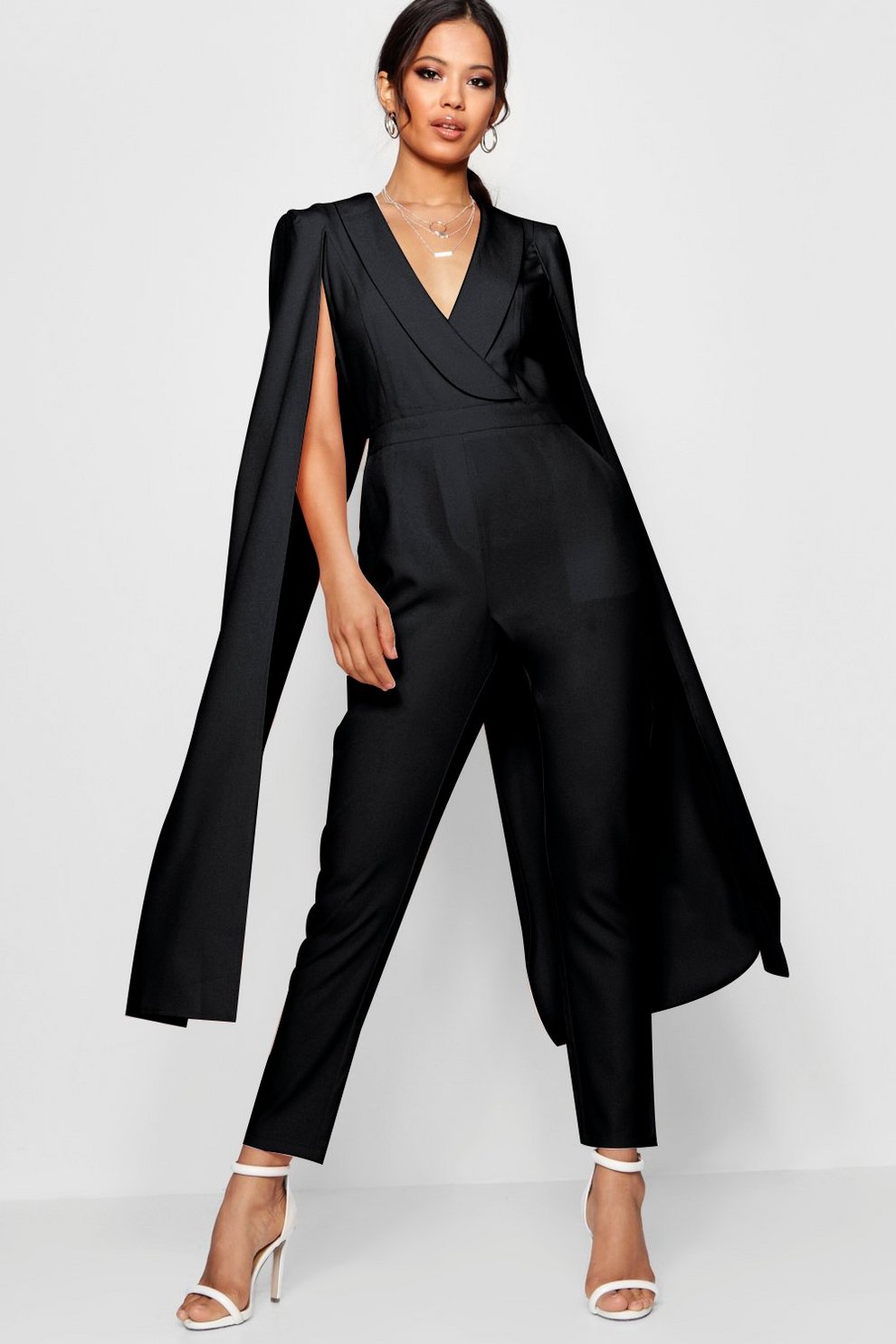 15eece36ae50 Cape Woven Tailored Jumpsuit