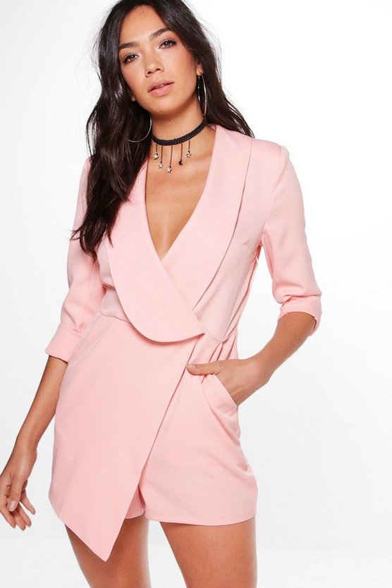 Lily Oversized Lapel Woven Tailored Playsuit