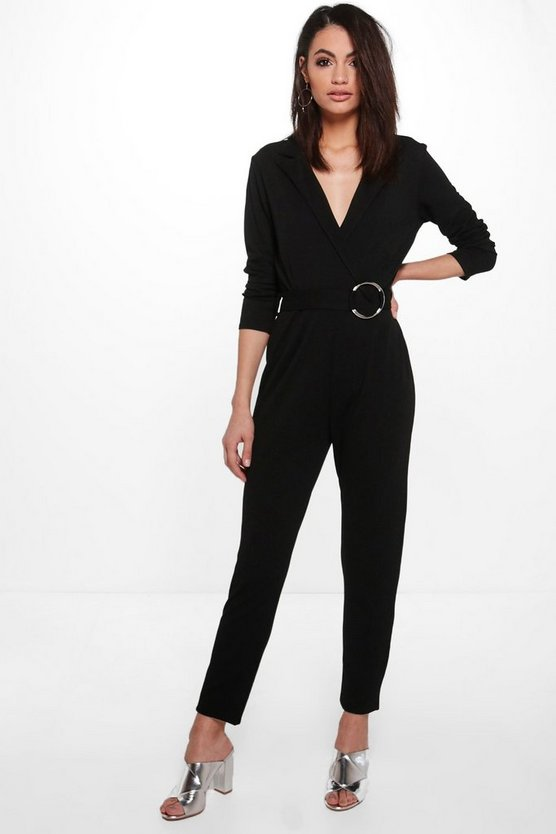 Niamh O-Ring Belted Tailored Woven Jumpsuit