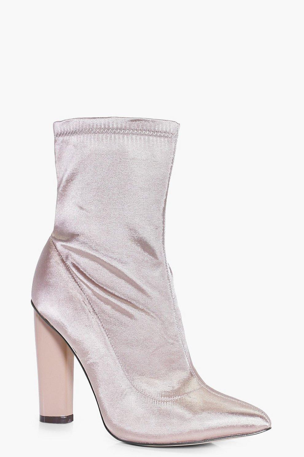 4d2e734bde4 Georgina Satin Sock Boot