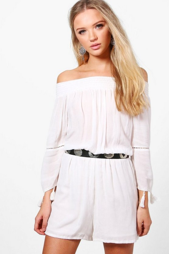 Bryony Tassel Sleeve Playsuit