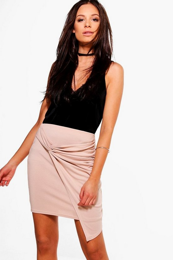 Womens Aurellia Rouched Side Mini Skirt