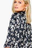 051dc81ce43617 ... Womens Black Gemma Floral Print Satin Shirt alternative image