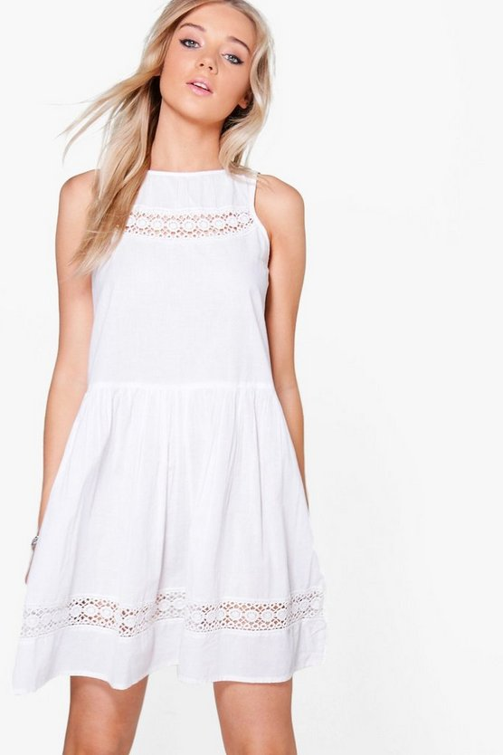 Melody Drop Hem Crochet Dress