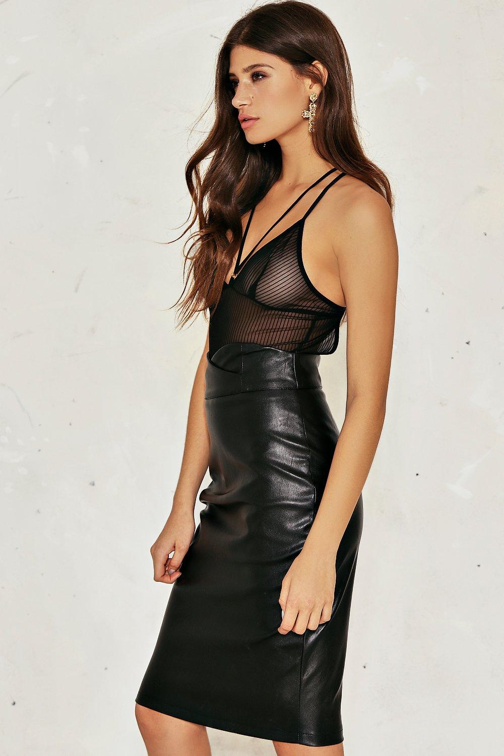 19a707b85354 Abbie High-Waisted Faux Leather Skirt | Shop Clothes at Nasty Gal!