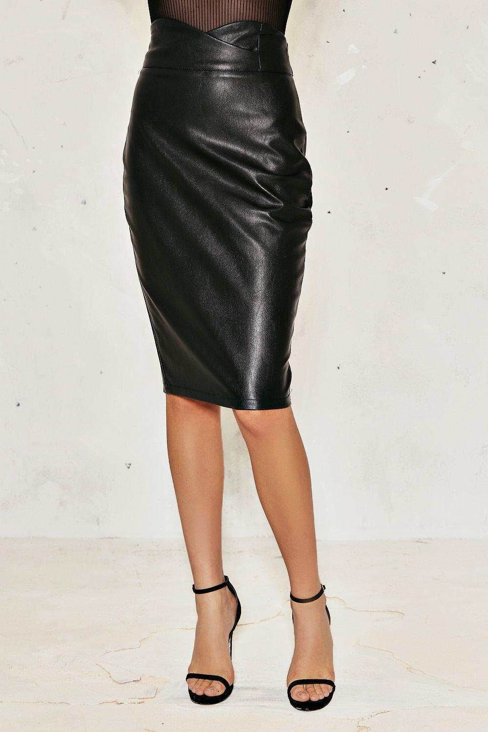 01ca5cf2f504 Abbie High-Waisted Faux Leather Skirt | Shop Clothes at Nasty Gal!