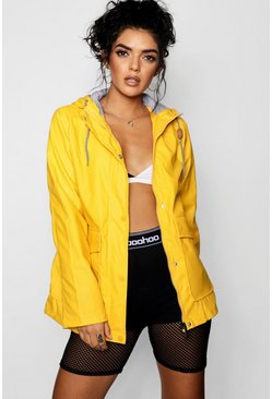 Womens Yellow PU Coated Festival Mac