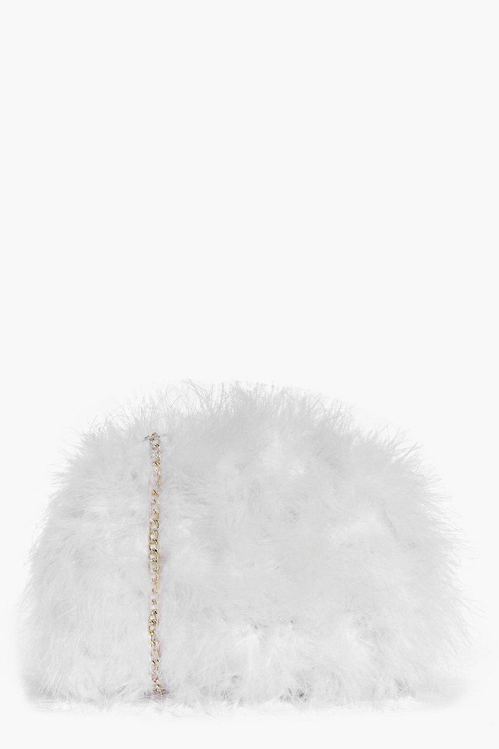 fa623768badc Lexi Marabou Faux Fur Cross Body Bag