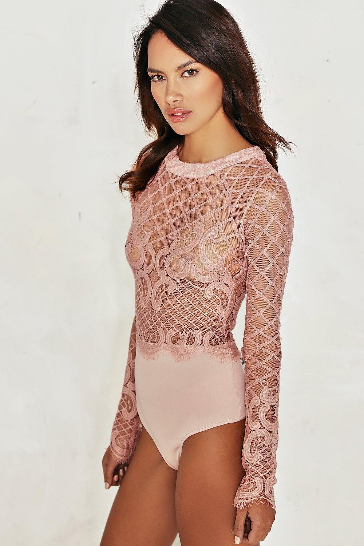 b6cf2ef85d8d Grace Crochet Lace Bodysuit. Hover to zoom