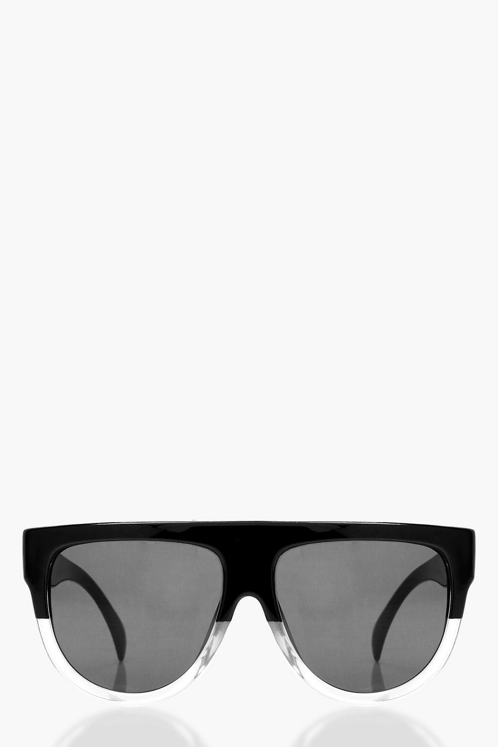 Leah Flat Frame Contrast Sunglasses | Boohoo