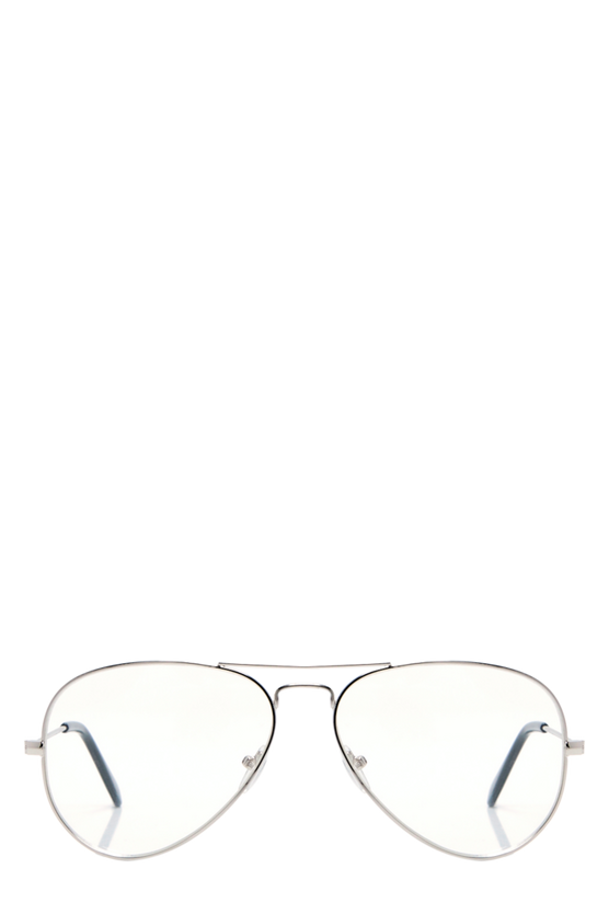 Maya Clear Lens Aviator Glasses