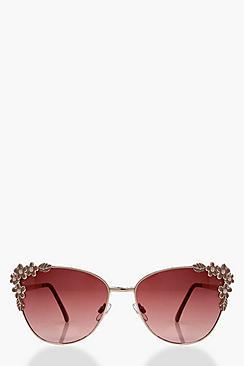 Unique Retro Vintage Style Sunglasses & Eyeglasses Bethany Floral Frame Cat Eye Sunglasses $13.00 AT vintagedancer.com