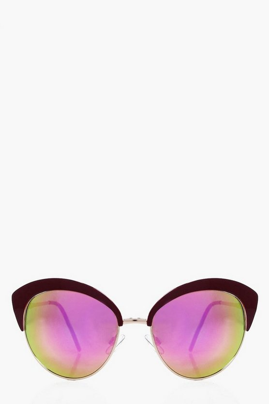 Eliza Revo Lense Contrast Cat Eye Sunglasses