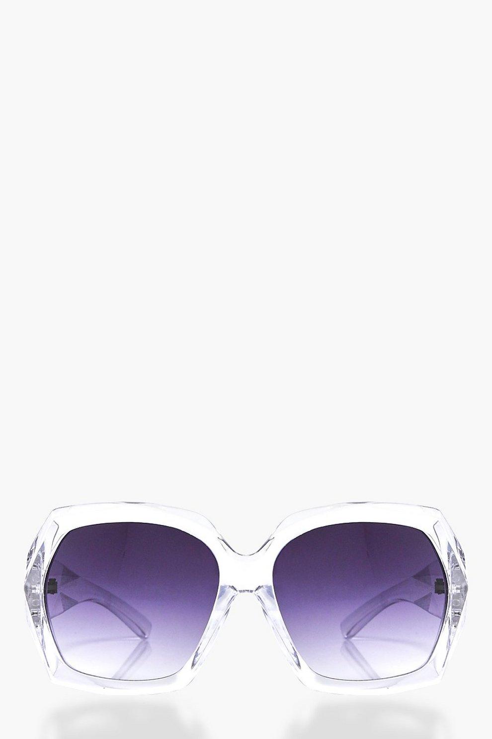 Faye Clear Frame Oversized fashion glasses | Boohoo