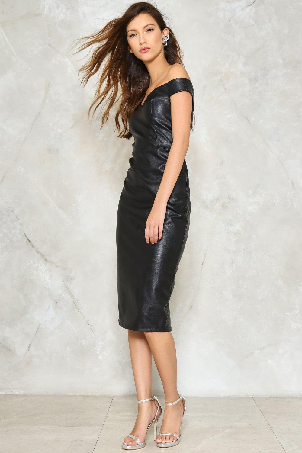 e47910962210 Hot Date Off-the-Shoulder Faux Leather Dress | Shop Clothes at Nasty ...