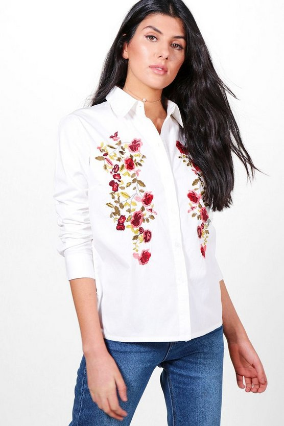 Daisy Boutique Embroidered Shirt