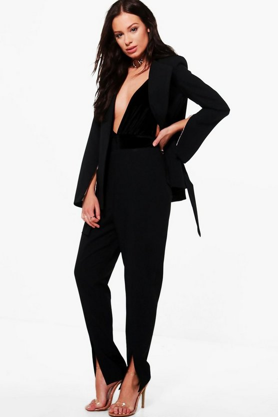 Naomi Split Front Tailored Trouser