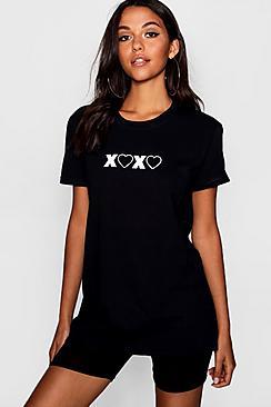 kisses & hearts t-shirt
