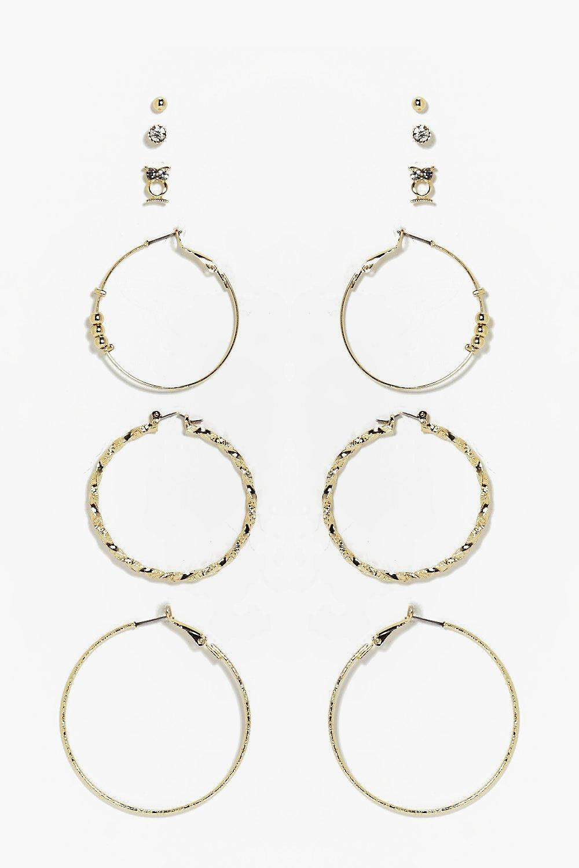 San Francisco San Francisco prezzo interessante alexis set orecchini a cerchio e a bottone misti | Boohoo
